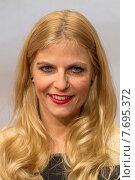 Berlin, Germany , presenter Tanja Buelter in portrait (2013 год). Редакционное фото, агентство Caro Photoagency / Фотобанк Лори