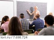 Купить «Female professor teaching refresher courses», фото № 7698724, снято 9 апреля 2020 г. (c) Яков Филимонов / Фотобанк Лори