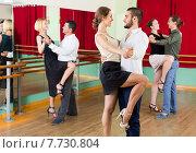Купить «Three happy couples dancing tango», фото № 7730804, снято 19 марта 2019 г. (c) Яков Филимонов / Фотобанк Лори