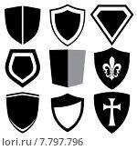 modern shield collection. Стоковая иллюстрация, иллюстратор Michael Travers / Фотобанк Лори