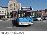 Купить «Троллейбус № 63к на маршруте, Нижняя Радищевская улица, Москва», эксклюзивное фото № 7830004, снято 3 июня 2014 г. (c) lana1501 / Фотобанк Лори