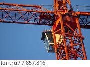 Купить «blue red sky workplace crane», фото № 7857816, снято 21 марта 2019 г. (c) PantherMedia / Фотобанк Лори