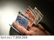 Купить «hand paper money liquid finger», фото № 7868068, снято 21 июля 2018 г. (c) PantherMedia / Фотобанк Лори