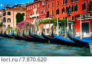 Купить «Гондолы у причала. Венеция», фото № 7870620, снято 3 июля 2012 г. (c) Валерий Апальков / Фотобанк Лори
