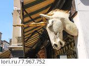 Купить «Голова единорога на фасаде здания в Венеции, Италия», фото № 7967752, снято 6 мая 2014 г. (c) Николай Кокарев / Фотобанк Лори