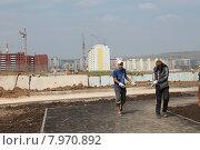 Строительство нового микрорайона (2013 год). Редакционное фото, фотограф Мария Алексашина / Фотобанк Лори