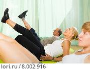Купить «Elderly couple with trainer», фото № 8002916, снято 16 июля 2014 г. (c) Яков Филимонов / Фотобанк Лори