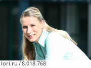 young woman business smiling smile. Стоковое фото, фотограф Wolfgang Behm Prof. Dr. Karl Peter Fischer / PantherMedia / Фотобанк Лори