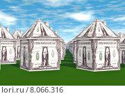 Купить «Dollar houses», фото № 8066316, снято 27 мая 2019 г. (c) PantherMedia / Фотобанк Лори