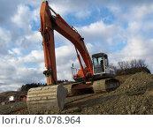 Купить «shovel excavator trench dredger baggern», фото № 8078964, снято 20 марта 2019 г. (c) PantherMedia / Фотобанк Лори