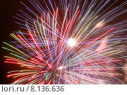 Купить «Фейерверк в ночном небе», фото № 8136636, снято 22 июля 2015 г. (c) Эдуард Цветков / Фотобанк Лори