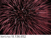 Фейерверк в ночном небе. Стоковое фото, фотограф Эдуард Цветков / Фотобанк Лори