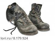 Купить «old clean dirty leather shoes», фото № 8179924, снято 27 июня 2019 г. (c) PantherMedia / Фотобанк Лори
