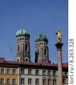 Купить «Cathedral towers bavaria munich marienplatz», фото № 8263328, снято 23 марта 2019 г. (c) PantherMedia / Фотобанк Лори