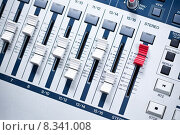 Купить «white mixer with red master in studio», фото № 8341008, снято 20 апреля 2018 г. (c) PantherMedia / Фотобанк Лори