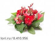 Купить «decoration artificial flowers red plant», фото № 8410956, снято 22 июня 2018 г. (c) PantherMedia / Фотобанк Лори