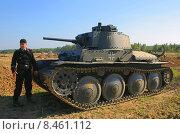 Танк LT vz Прага (перед боем) (2005 год). Редакционное фото, фотограф Сергей Куранов / Фотобанк Лори