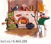Каша из топора. Стоковая иллюстрация, иллюстратор Сергей Куранов / Фотобанк Лори
