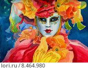 Венецианский наряд. Стоковая иллюстрация, иллюстратор Сергей Куранов / Фотобанк Лори