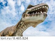 Реалистичная модель тиранозавра (2015 год). Редакционное фото, фотограф Alexander Tihonovs / Фотобанк Лори