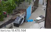 Купить «Воды потопа в городе Геленджик 11 июля 2015 года», видеоролик № 8470164, снято 11 июля 2015 г. (c) Кирилл Трифонов / Фотобанк Лори