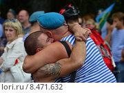 Купить «Празднование Дня ВДВ в Парке Горького, Москва, 2015», эксклюзивное фото № 8471632, снято 2 августа 2015 г. (c) lana1501 / Фотобанк Лори