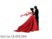 Пара танцующая вальс. Стоковая иллюстрация, иллюстратор Мярц Алиса / Фотобанк Лори