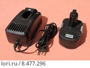 Купить «Зарядное устройство для  аккумуляторов», эксклюзивное фото № 8477296, снято 14 июля 2015 г. (c) Юрий Морозов / Фотобанк Лори