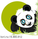 Панда (вектор) Стоковая иллюстрация, иллюстратор Александра Лисица / Фотобанк Лори