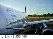 Самолет Airbus A320 авиакомпании Аэрофлот, аэропорт Краснодар (2014 год). Редакционное фото, фотограф Evgeniya Kuznetsova / Фотобанк Лори