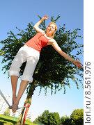 Купить «woman sport fitness sports balance», фото № 8561976, снято 4 июля 2020 г. (c) PantherMedia / Фотобанк Лори