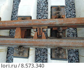 Строительство Малого кольца Московской кольцевой железной дороги, железнодорожная стрелка (2015 год). Стоковое фото, фотограф Лилия Линкевич / Фотобанк Лори