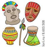 Купить «African tribal collection», иллюстрация № 8603508 (c) PantherMedia / Фотобанк Лори