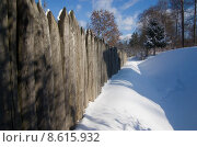 Купить «snow palisade limes trench boundary», фото № 8615932, снято 21 января 2018 г. (c) PantherMedia / Фотобанк Лори