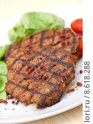 Купить «salad baked pork barbecue roast», фото № 8618288, снято 20 сентября 2019 г. (c) PantherMedia / Фотобанк Лори