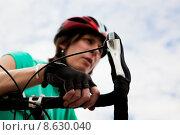 Купить «Woman with Bicycle», фото № 8630040, снято 21 апреля 2019 г. (c) PantherMedia / Фотобанк Лори