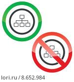 Купить «Scheme permission signs», иллюстрация № 8652984 (c) Иван Рябоконь / Фотобанк Лори