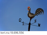Купить «rooster cock weathercock point of», фото № 8696556, снято 25 апреля 2018 г. (c) PantherMedia / Фотобанк Лори