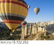 Купить «Полет на воздушном шаре Каппадокия территория Турции», фото № 8722252, снято 26 июля 2015 г. (c) Анна Королева / Фотобанк Лори