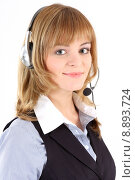 Купить «friendly service secretary headset agent», фото № 8893724, снято 25 апреля 2019 г. (c) PantherMedia / Фотобанк Лори