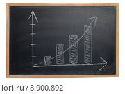 Купить «Graph on a Blackboard», фото № 8900892, снято 21 сентября 2019 г. (c) PantherMedia / Фотобанк Лори