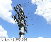 Купить «mast traverse betonmast current endmast», фото № 8903364, снято 23 мая 2019 г. (c) PantherMedia / Фотобанк Лори