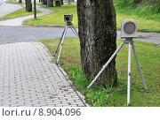 Купить «check monitoring radar geschwindigkeitskontrolle trap», фото № 8904096, снято 27 мая 2019 г. (c) PantherMedia / Фотобанк Лори