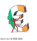 Купить «Keeping up the Euro - Irish Flag», фото № 8908404, снято 15 июня 2019 г. (c) PantherMedia / Фотобанк Лори