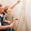 Купить «child family father dad painter», фото № 8941420, снято 3 июля 2020 г. (c) PantherMedia / Фотобанк Лори