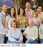 Multi-Generation Family Reunion. Стоковое фото, фотограф Gerard Fritz / PantherMedia / Фотобанк Лори