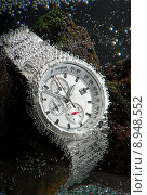 Купить «waterproof chronograph watch underwather», фото № 8948552, снято 14 ноября 2019 г. (c) PantherMedia / Фотобанк Лори