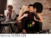Купить «1970s Disco Music Party», фото № 8954124, снято 25 апреля 2019 г. (c) PantherMedia / Фотобанк Лори