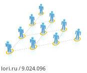 Купить «Team hierarchy», иллюстрация № 9024096 (c) PantherMedia / Фотобанк Лори