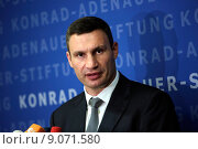 Купить «Berlin, Germany, Vitali Klitschko, UDAR, Mayor of Kiev», фото № 9071580, снято 12 сентября 2014 г. (c) Caro Photoagency / Фотобанк Лори